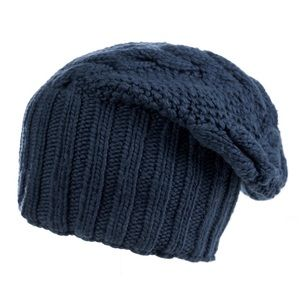 Cable Merino Wool Slouch Winter Hat